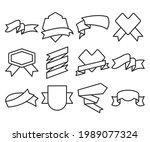 ribbon banner label and award...   Shutterstock .eps vector #1989077324