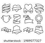 ribbon banner label and award...   Shutterstock .eps vector #1989077327