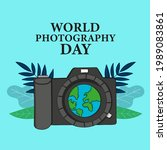 world photography day. happy...   Shutterstock .eps vector #1989083861