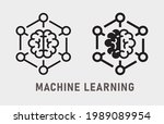 machine learning icon. vector...   Shutterstock .eps vector #1989089954