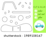 color  cut and glue paper... | Shutterstock .eps vector #1989108167