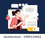 online class  e learning ...   Shutterstock .eps vector #1989114461