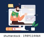 online class  e learning ...   Shutterstock .eps vector #1989114464