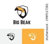 big beak bill toucan bird...   Shutterstock .eps vector #1989117281