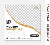 modern furniture sale banner... | Shutterstock .eps vector #1989149927
