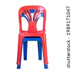 Plastic Chair Red And Blue...