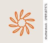flower logo.decorative abstract ...   Shutterstock .eps vector #1989187571