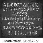 doodle sketch font on blackboard | Shutterstock .eps vector #198919277