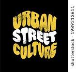 urban street culture design... | Shutterstock .eps vector #1989213611