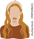 blonde faceless woman portrait...   Shutterstock .eps vector #1989248621