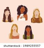 abstract women portraits. afro...   Shutterstock .eps vector #1989255557