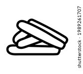sausages icon. bold outline...