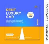 rent car for social media... | Shutterstock .eps vector #1989288737