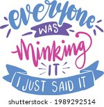 Funny Quotes Lettering...