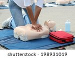 female instructor showing cpr... | Shutterstock . vector #198931019