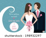 we're getting married. save the ... | Shutterstock .eps vector #198932297