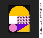 geometric colorful poster in...   Shutterstock .eps vector #1989330137