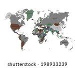 world map | Shutterstock .eps vector #198933239
