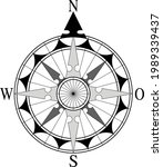 Vintage Nautical Wind Rose And...