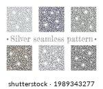 silver seamless patterns....   Shutterstock .eps vector #1989343277