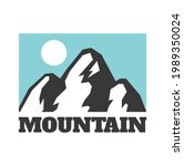 hand drawn mountain isolated. ...   Shutterstock . vector #1989350024