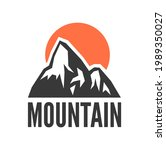 hand drawn mountain isolated. ...   Shutterstock . vector #1989350027