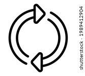 refresh arrows icon. outline...
