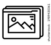 virtual multimedia reality icon.... | Shutterstock .eps vector #1989430361