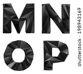 original black glossy font by...
