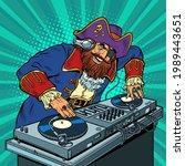 pirate music concept dj on...