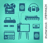 set of retro technology in the...   Shutterstock .eps vector #198944624