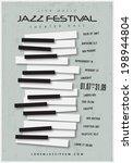 jazz music festival  poster... | Shutterstock .eps vector #198944804
