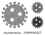 collage influenza virus icon...   Shutterstock .eps vector #1989449327
