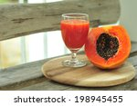 papaya juice.   Shutterstock . vector #198945455