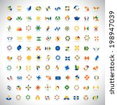 unusual icons set   isolated on ... | Shutterstock .eps vector #198947039