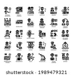 set of education thin line and... | Shutterstock .eps vector #1989479321