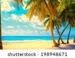 art beautiful sunset over the... | Shutterstock . vector #198948671