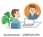 illustration of a young man...   Shutterstock .eps vector #1989522194