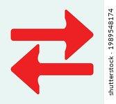 red arrow icon vector eps  10 | Shutterstock .eps vector #1989548174