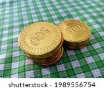 Stacked Gold Coin Picture In...