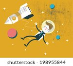businessman falling in the... | Shutterstock .eps vector #198955844