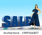3d sale image with images of... | Shutterstock .eps vector #1989566807
