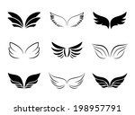 several different wing designs... | Shutterstock .eps vector #198957791