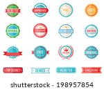 set of sixteen vector colored... | Shutterstock .eps vector #198957854