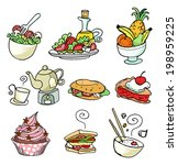food icons | Shutterstock .eps vector #198959225