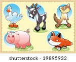 farm baby animals. funny... | Shutterstock .eps vector #19895932