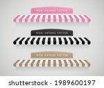 wide awning vector collection... | Shutterstock .eps vector #1989600197