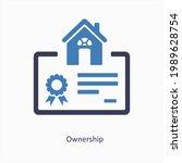 proprietorship or ownership...   Shutterstock .eps vector #1989628754