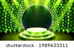 show light  stage podium scene...   Shutterstock .eps vector #1989633311