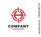 letter h target logo template...   Shutterstock .eps vector #1989638174